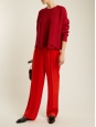 STELLA MCCARTNEY CICELY bright red satin fluid pants Retail price €515 Size 40