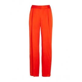 Pantalon CICELY fluide en satin rouge vif Prix boutique 515€ Taille 40
