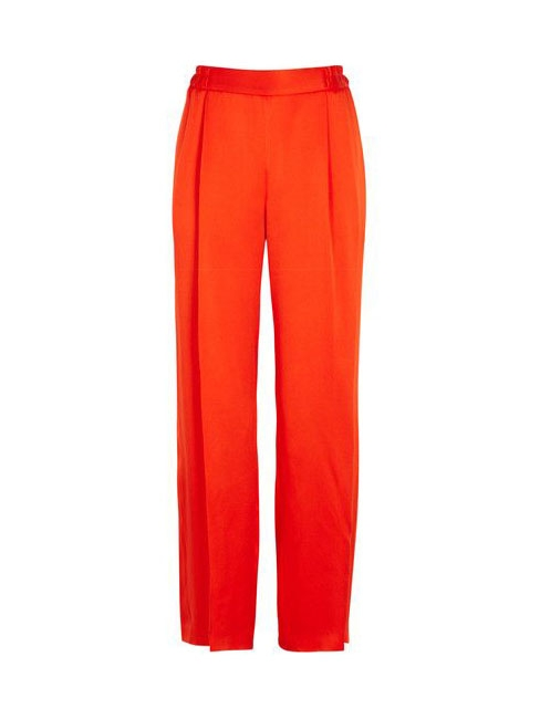 CICELY bright red satin fluid pants Retail price €515 Size 40