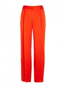 STELLA MCCARTNEY Pantalon CICELY fluide en satin rouge vif Prix boutique 515€ Taille 40