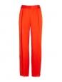 STELLA MCCARTNEY Pantalon CICELY fluide en satin rouge vif Prix boutique 515€ Taille 40