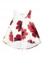 CHLOE Top débardeur en soie blanche imprimé fleuri rouge Prix boutique 480€ Taille 36