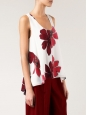 CHLOE ICONIC white silk crepe tank top printed with red flowers Retail price €390 Size 36