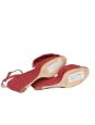 CHLOE TERRY Purple red cotton canvas wedge sandals NEW Retail price €500 Size 36