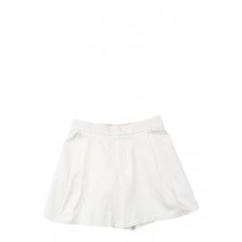 White cotton twill pleated shorts Retail price €550 Size 40