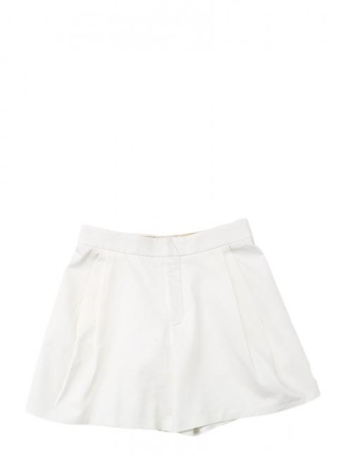 Short taille haute en sergé de coton blanc Prix boutique 550€ Taille 40