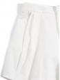 Short taille haute en sergé de coton blanc Px boutique 550€ Taille 40