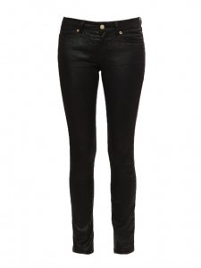 LIBERTY Black waxed slim fit jeans Retail price €300 Size XS