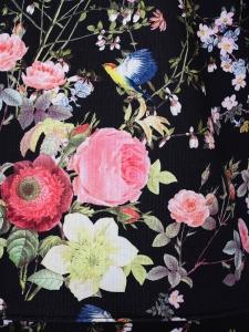 Pull Neoprène JAMES noir imprimé fleuri Px boutique 280€ Taille 36