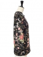 JAMES Floral printed black neoprene sweater Retail price €280 Size 36