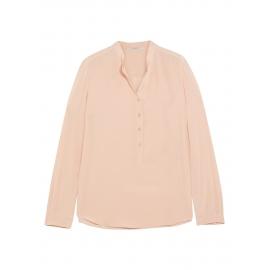 Blouse EVA manche longues en soie rose poudre Prix boutique 525€ Taille 34