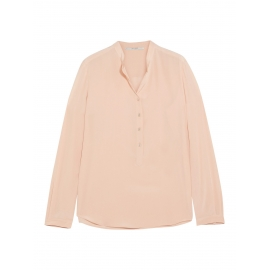 EVA powder pink silk crepe de chine long sleeve blouse Retail price €525 Size 34