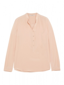 STELLA MCCARTNEY EVA powder pink silk crepe de chine long sleeve blouse Retail price €525 Size 34
