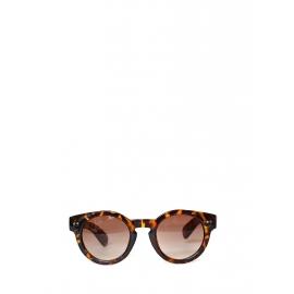 Lunettes de soleil monture ronde écailles brun et roux verre fumé marron Neuves