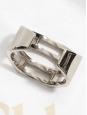 CHLOE Bracelet manchette BIANCA en laiton argent Prix boutique 420€ Taille S/M