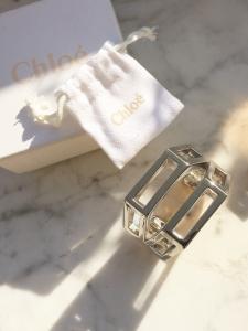 CHLOE BIANCA Silver brass cuff bracelet Retail price €420 Size S/M