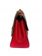 Sac ELSIE medium en cuir grainé rouge rubis à bandoulière NEUF Px boutique 1100€