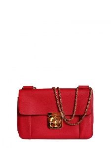 f26b7783783 CHLOE · Elsie Medium rubis red leather bag with gold shoulder ...
