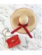 Chapeau capeline en paille et ruban grosgrain blanc Px boutique 450€ Taille 38 / S