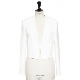 Jianila Ivory white crepe cropped blazer jacket NEW Retail price €300 Size 36