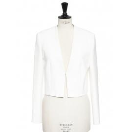 Veste blazer boléro en jersey blanc ivoire NEUF Prix boutique 300€ Taille 38
