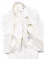 BOSS HUGO BOSS Veste blazer boléro en jersey blanc ivoire NEUF Prix boutique 300€ Taille 36
