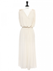 SEE BY CHLOE Grecian style cream white draped belted maxi dress Retail price €350 Size XS