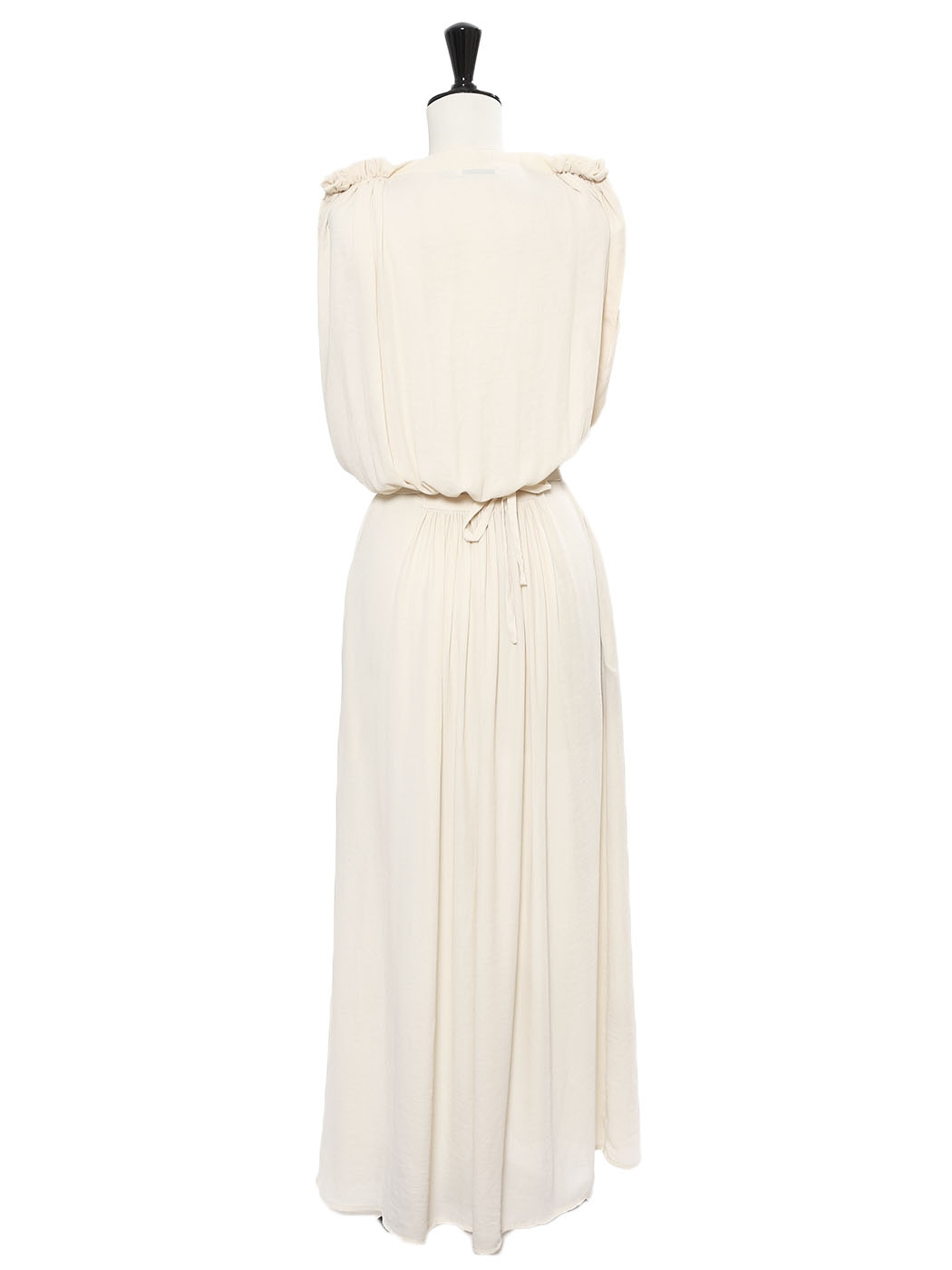 8eccc0d06b Louise Paris - SEE BY CHLOE Grecian style cream white draped belted ...