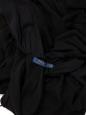 POLO RALPH LAUREN Robe de cocktail longue en soie noire décolletée et dos nu à volants Prix boutique $450 Taille 36