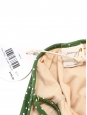 PEONY Maillot de bain St Jean une pièce décolleté plongeant vert à pois blanc NEUF Prix boutique $170 Taille XS