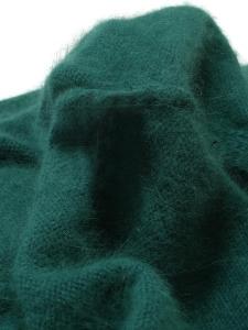 Pull col rond en angora vert émeraude Prix boutique 350€ Taille 36