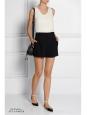 Short taille haute à pinces en crêpe noir Prix boutique 490€ Taille 38