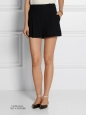 Black pleated crepe high waisted shorts Retail price €490 Size 38