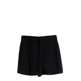 Black pleated crepe high waisted shorts Retail price €490 Size 40