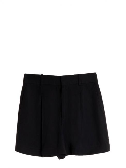 Short taille haute à pinces en crêpe noir Prix boutique 490€ Taille 40