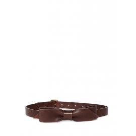 Ceinture noeud en cuir marron cognac et boucle dorée Px boutique 550€