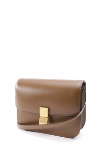 CELINE Classic medium size camel brown Box leather shoulder bag Retail price €3100