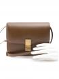 CELINE Classic medium size camel brown Box leather shoulder bag Retail price €3100