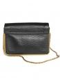 Petit sac Sally en cuir grainé noir et chaîne dorée Px boutique 1320€