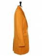 STELLA McCARTNEY Saffron yellow camel wool mid-length coat Retail price €1340 Size 38