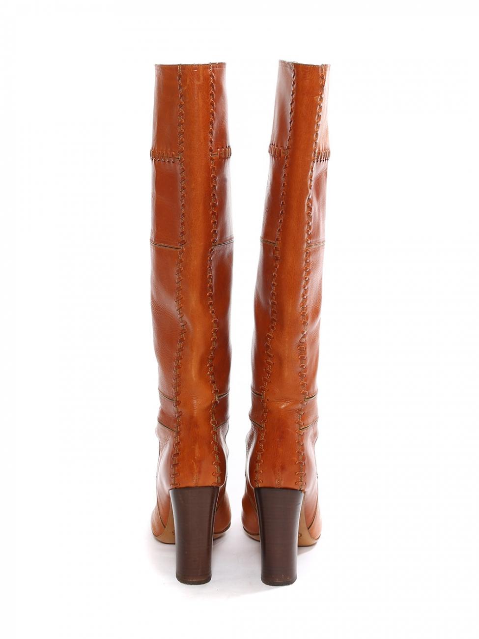 Louise Paris CHLOE Bottes hautes à talon bois en patchwork