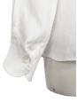 Blouse chemise Scalloped blanche en lin et soie transparente Px boutique environ 950€ Taille 36