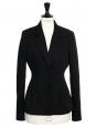 Black crepe cinched blazer jacket Retail price €900 SIze 38