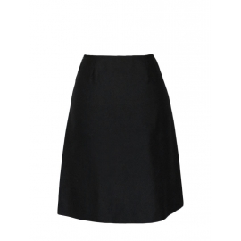 High waist black silk skirt with vent at back Retail price €650 Size 34/36