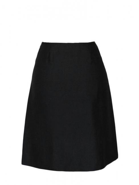 Jupe taille haute fendue en soie noire Prix boutique 650€ Taille 34/36