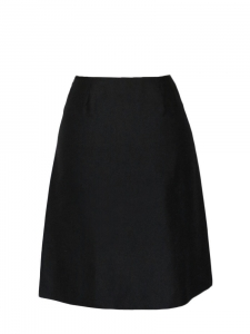 Black silk skirt with vent at front Retail price €650 Size 36