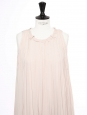 Pale pink pleated smock long dress Retail price 3500€ Size 34/36