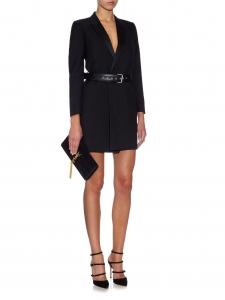 Escarpins à talon CAREY multi brides en cuir noir Px boutique 950€ Taille 38