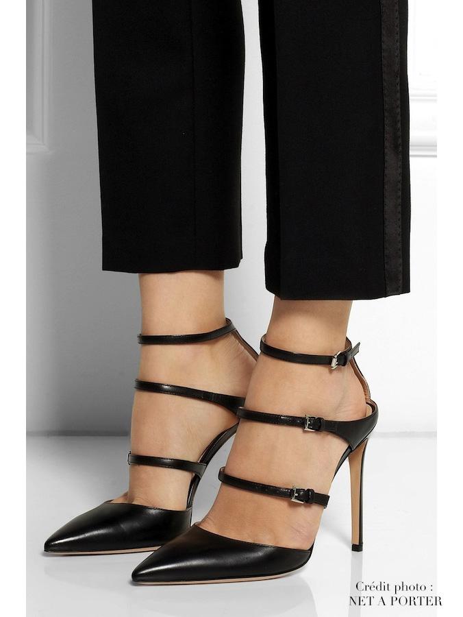 2b71a208c Louise Paris - GIANVITO ROSSI CAREY Black leather strappy triple ...
