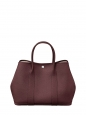 GARDEN PARTY 36 burgundy leather hand bag Retail price €2600
